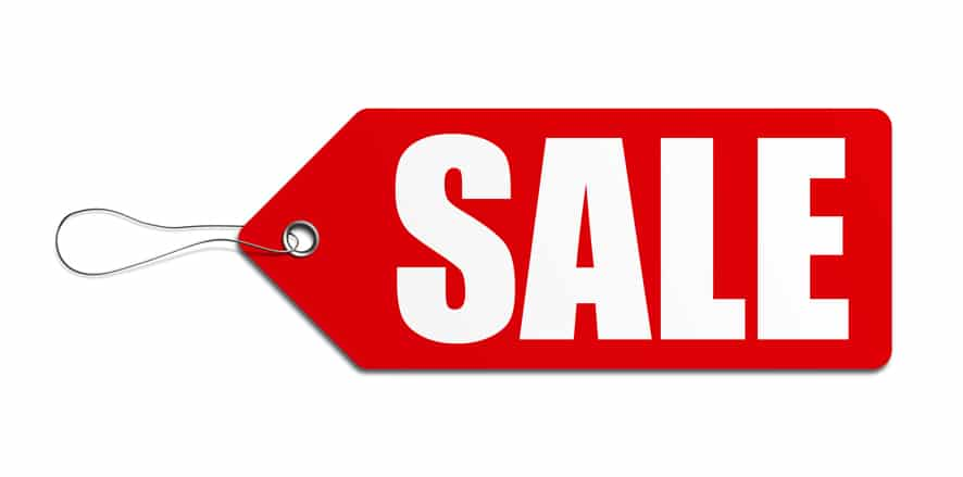 sale prices tag