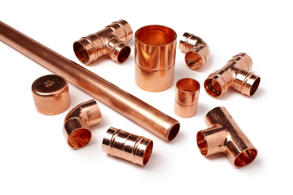 new copper pipe and fittings